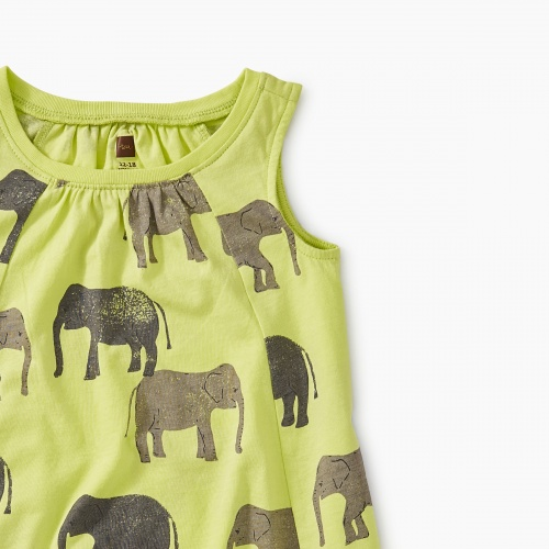 Printed Trapeze Baby Dress