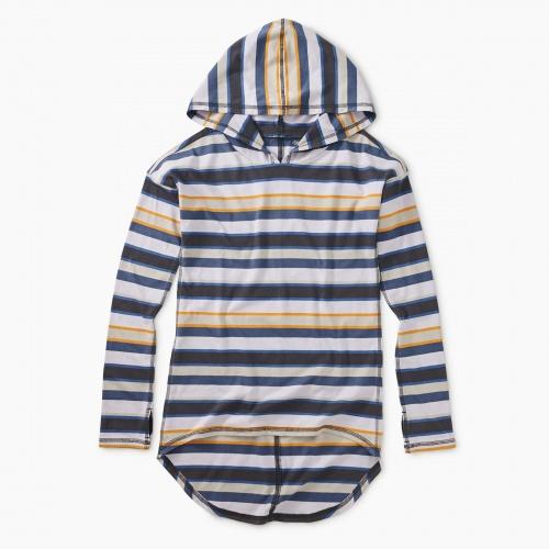 Striped Hi-Lo Hoodie
