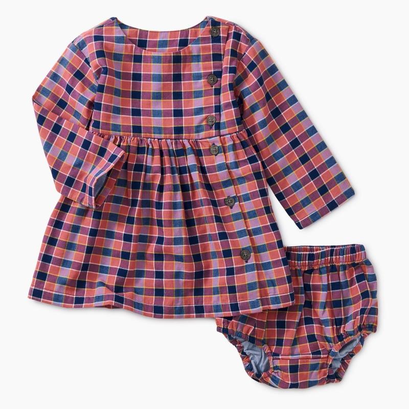 Plaid Woven Baby Dress