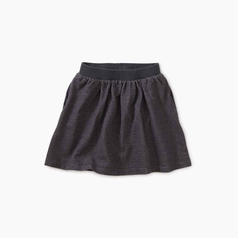 Denim-Like French Terry Skirt