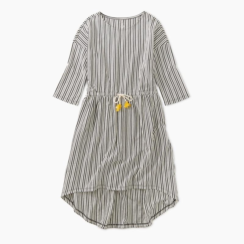 Tie Waist Hi-Lo Dress
