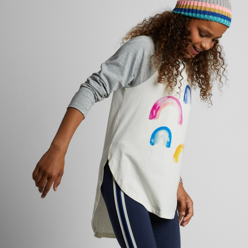 Rainbow Graphic Raglan Tee