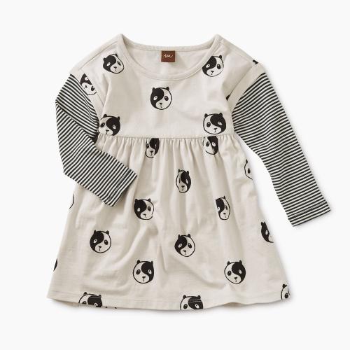 Printed Layered Sleeve Baby Dress