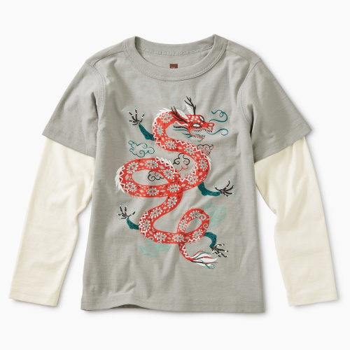 Fire Dragon Graphic Layered Tee