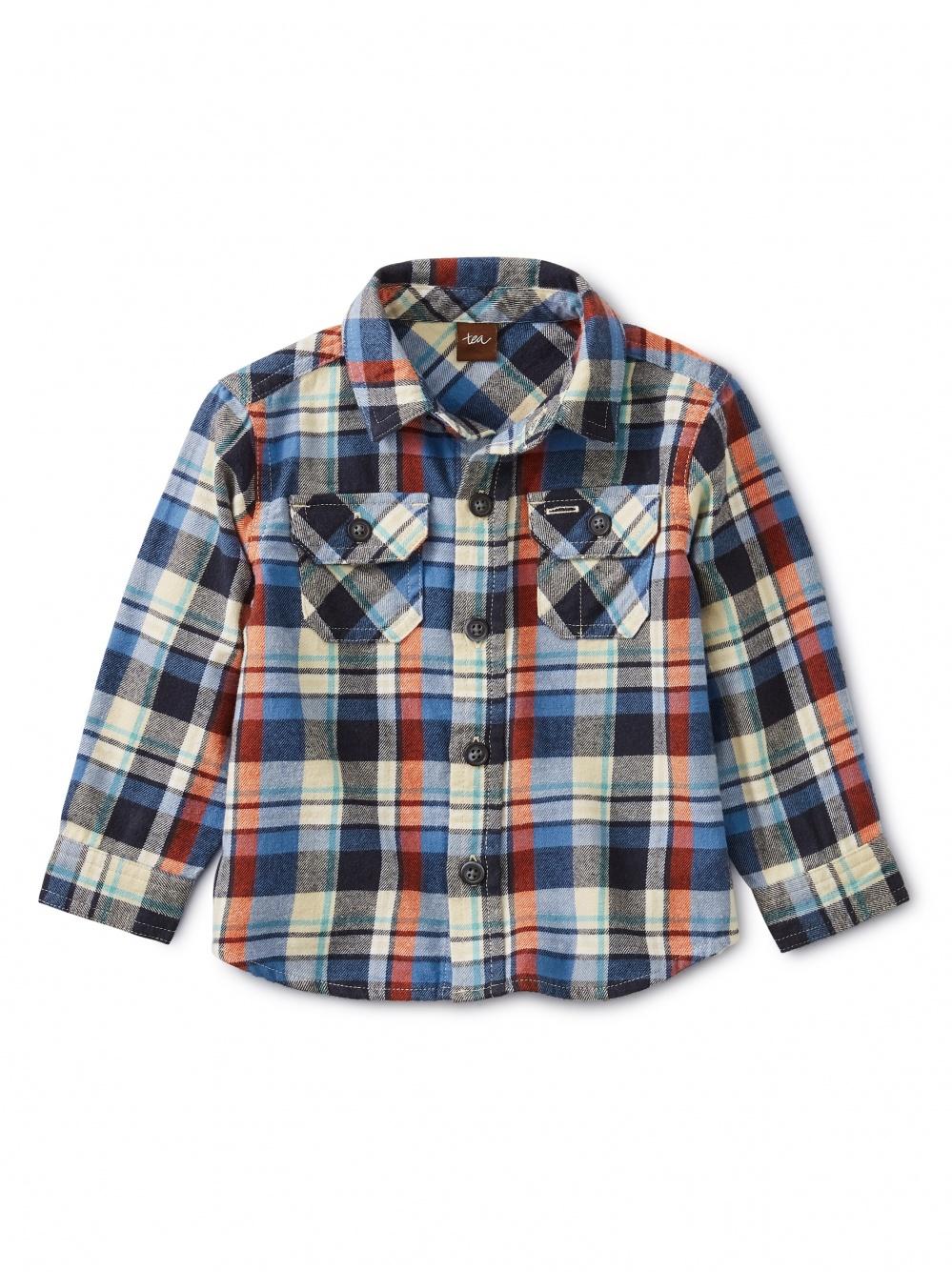 Flannel Plaid Baby Shirt