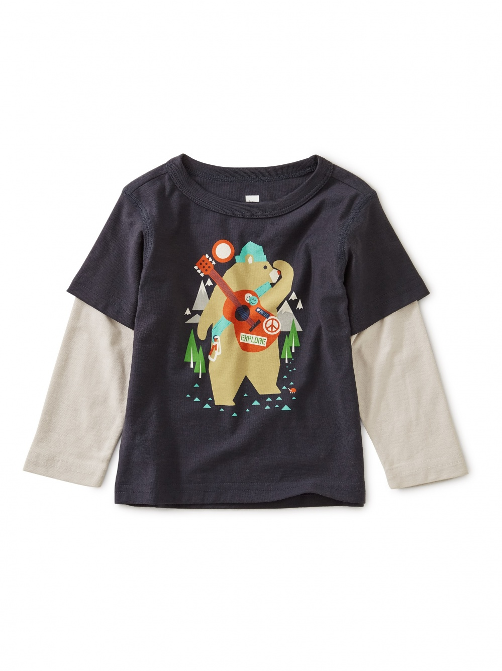 Camp Bear Graphic Layered Sleeve Tee