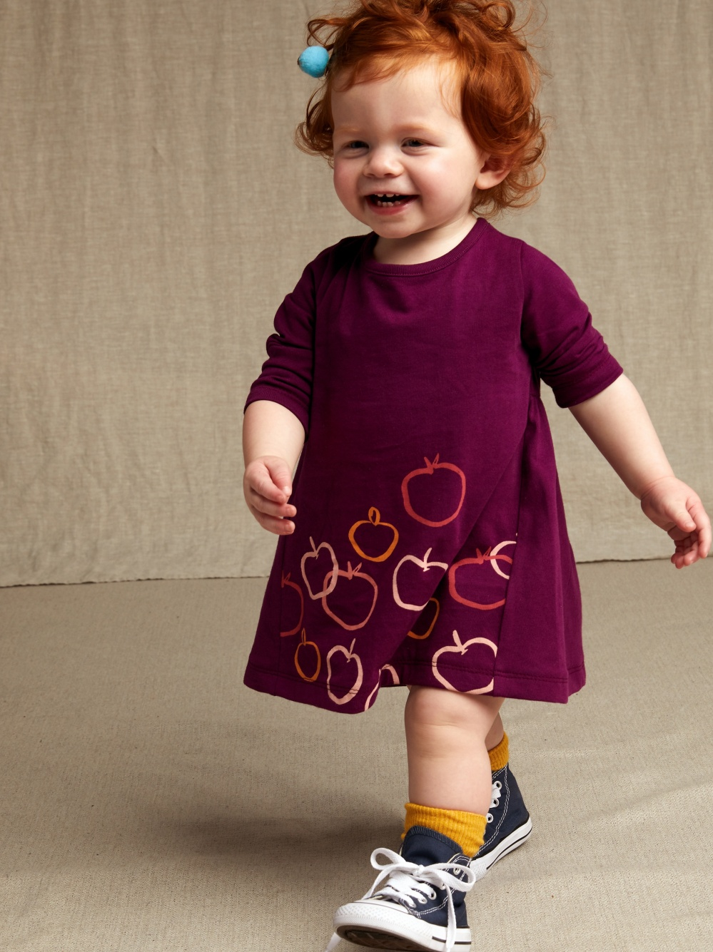 Golden Apples Graphic Baby Dress