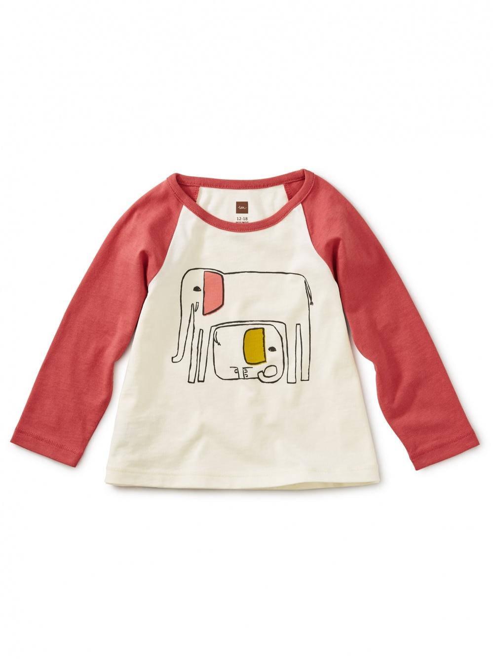 Mama Elephant Graphic Raglan Tee