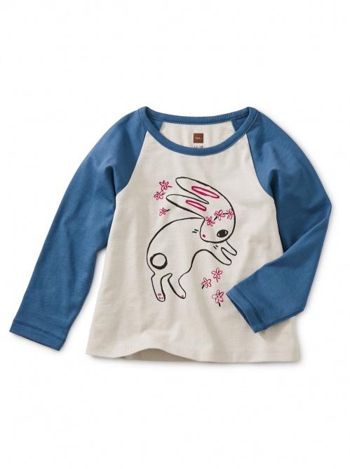 Bunny Hop Graphic Raglan Tee