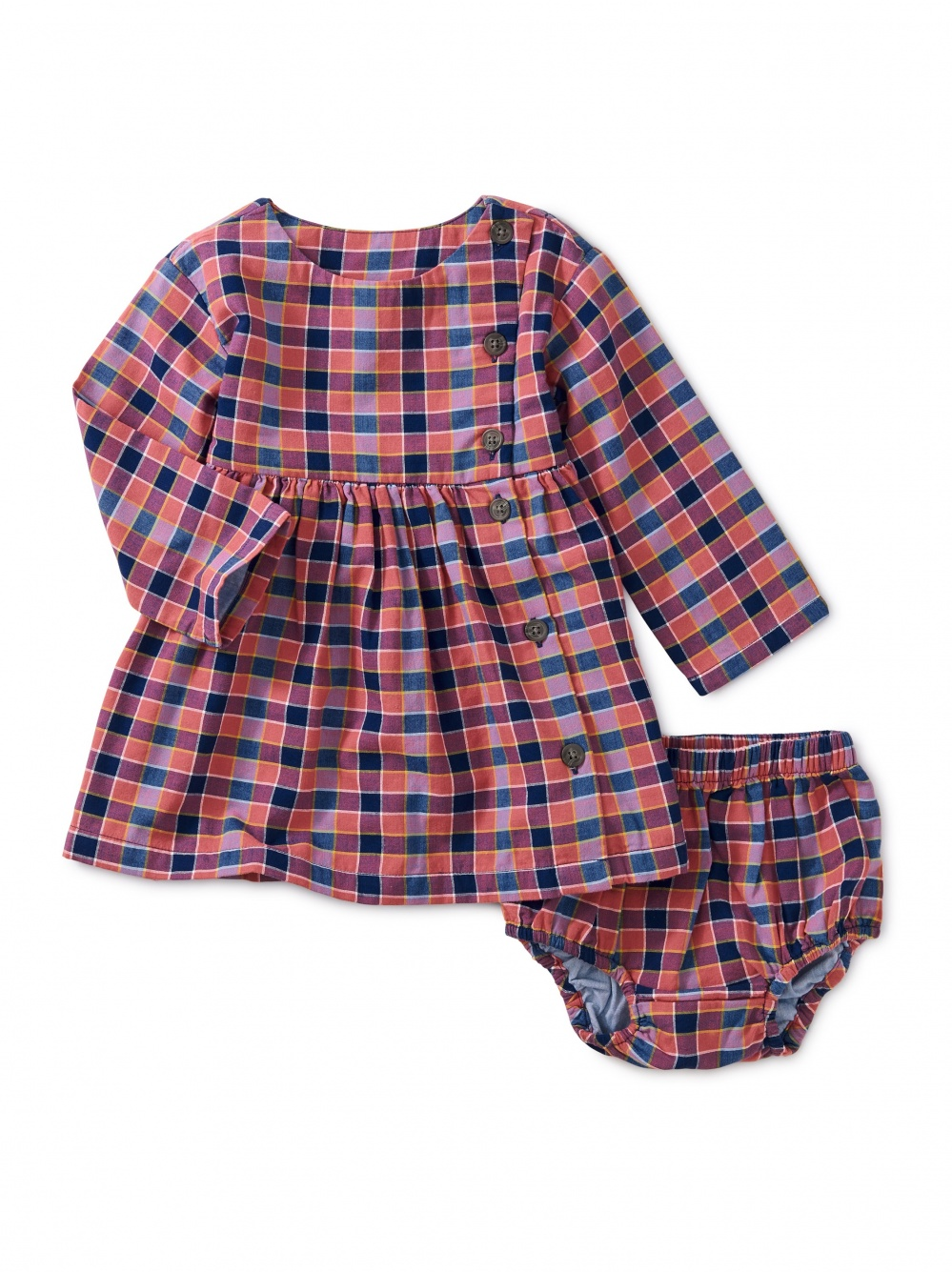 Plaid Woven Baby Dress