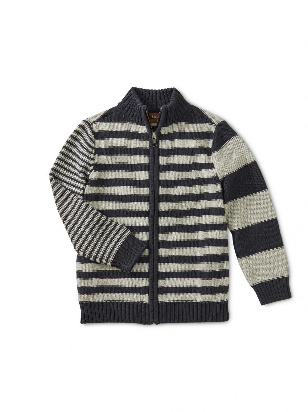 Trekking Stripe Zip Cardigan