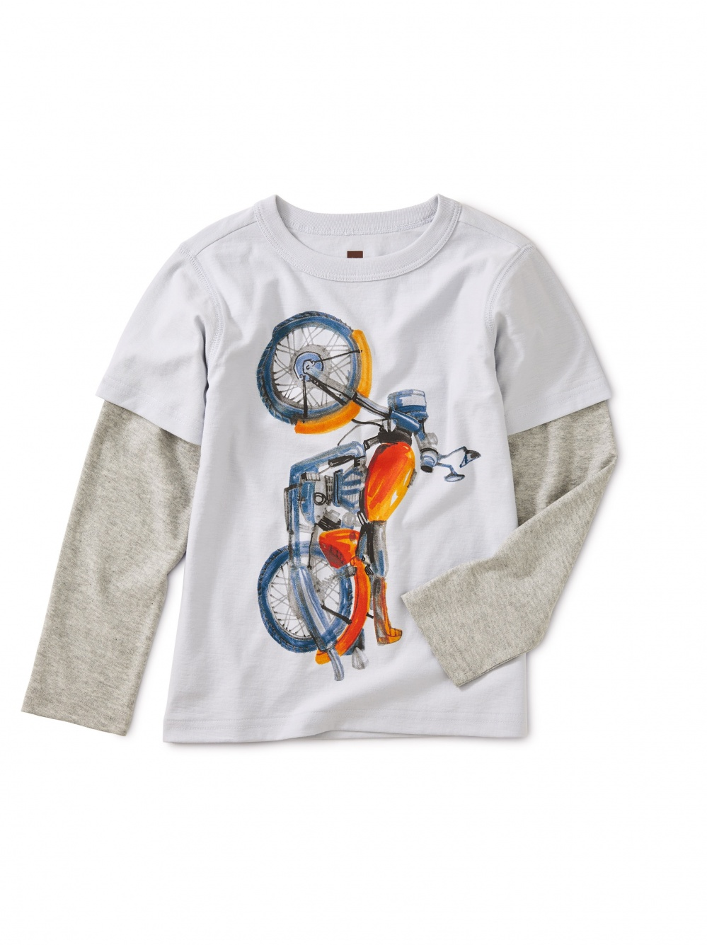 Vertical Moto Graphic Layered Tee
