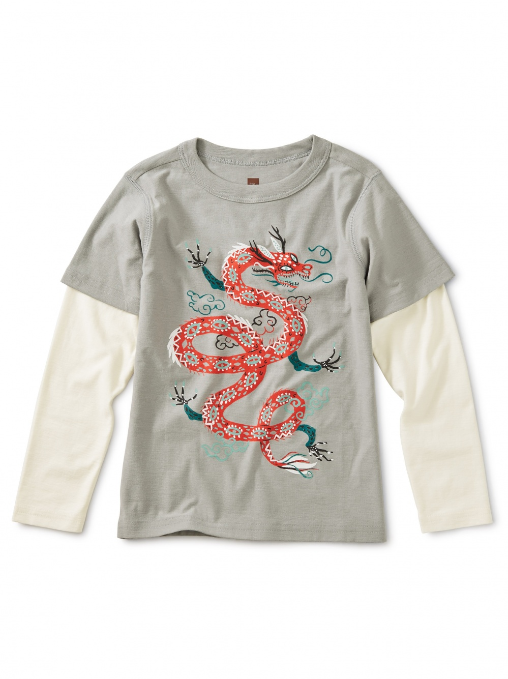 Fire Dragon Graphic Layered Tee