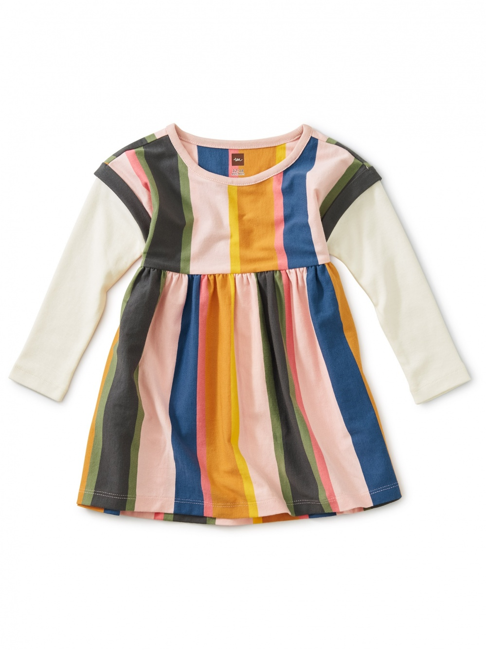 Striped Layered Sleeve Baby Dress