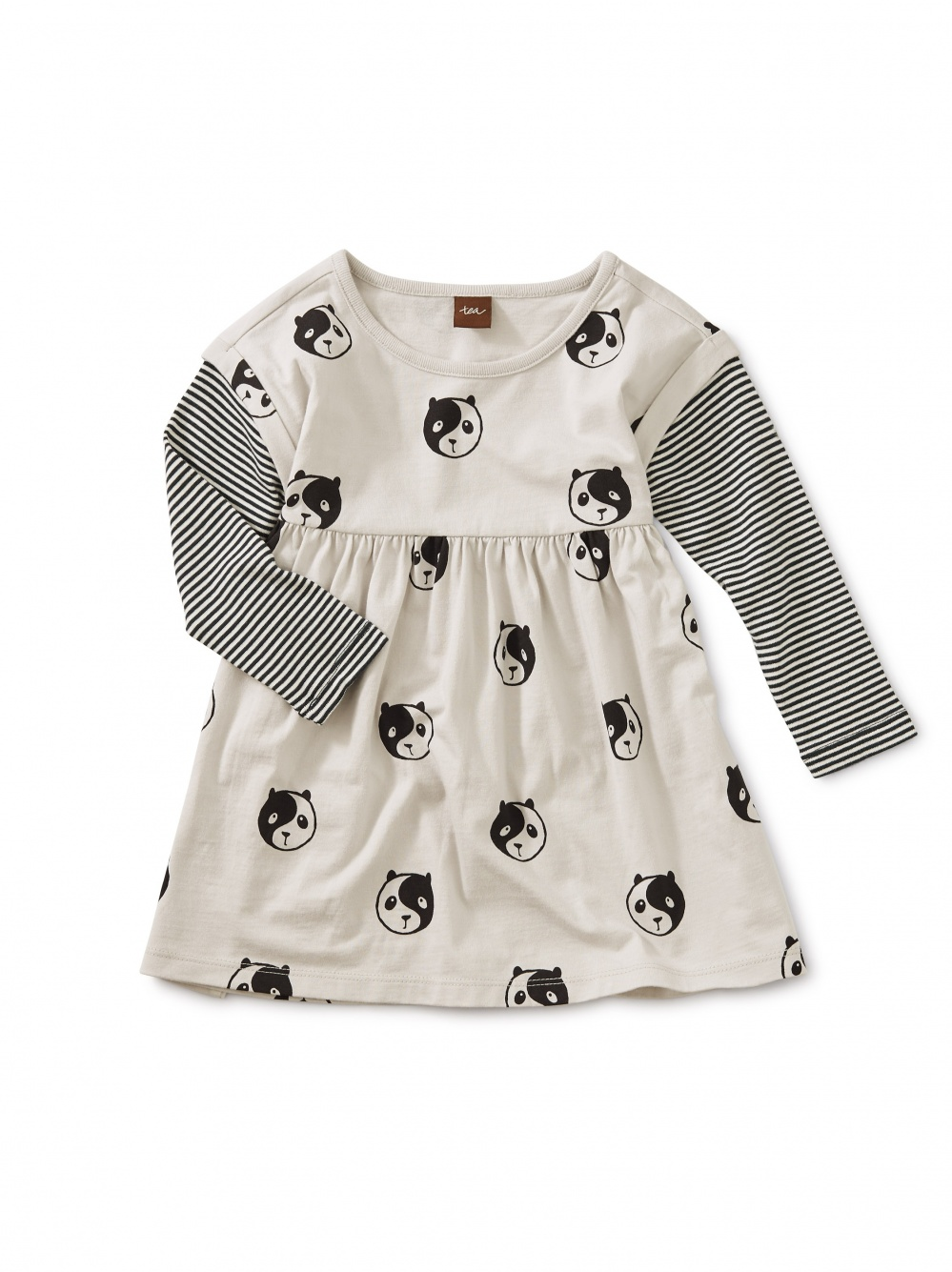 Printed Layered Sleeve Baby Dress