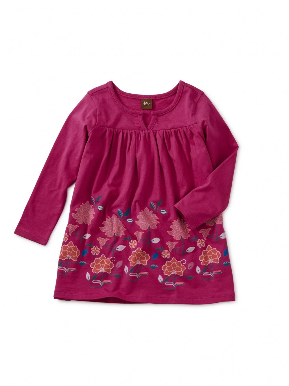 Water Lotus Graphic Baby Dress