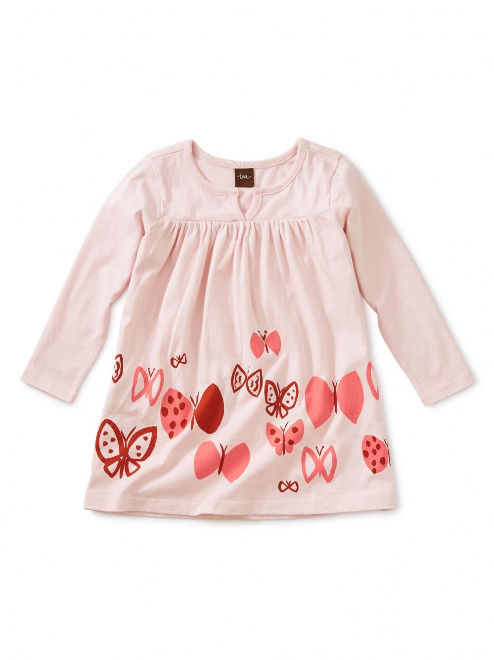 Butterflies Graphic Baby Dress