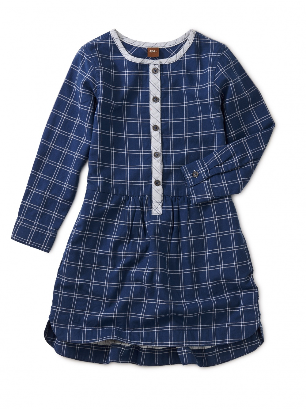 Checkered Plaid Woven Shirtdress