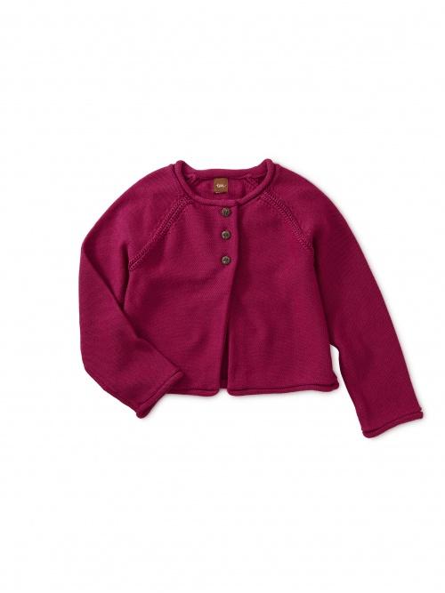 Solid Raglan Sweater Cardigan