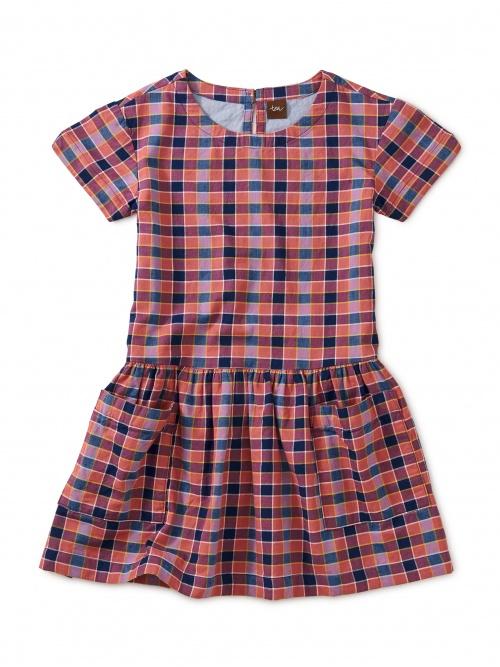 Plaid Woven Pocket Dress