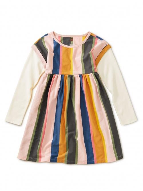 Striped Layered Sleeve Dress