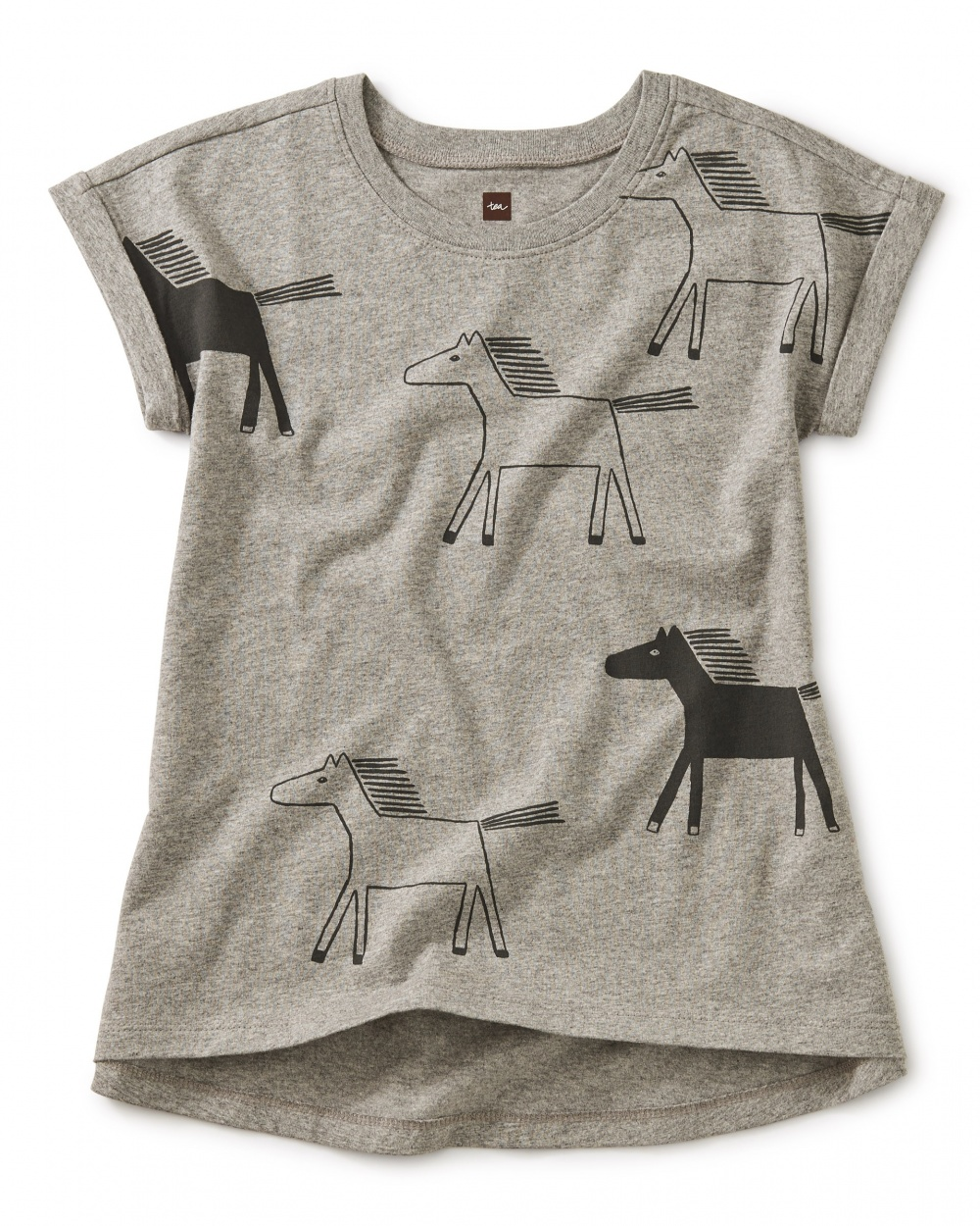 Himalayan Horses Graphic Cuffed Top