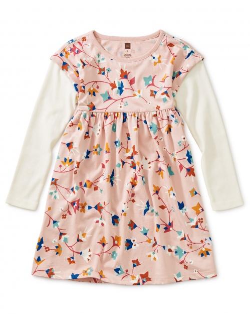 Printed Layered Sleeve Dress