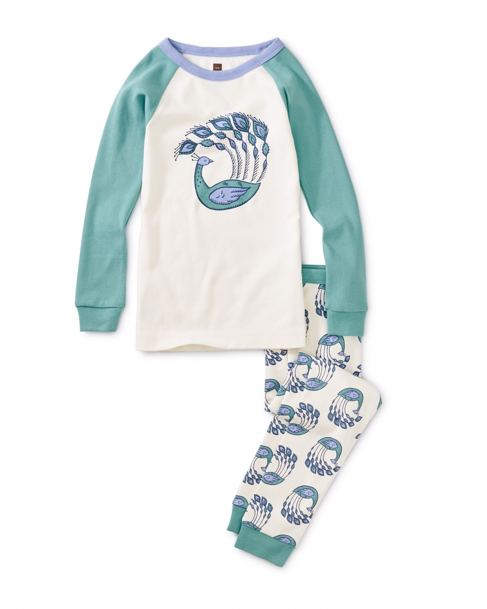 Peacock Plumes Graphic Pajamas