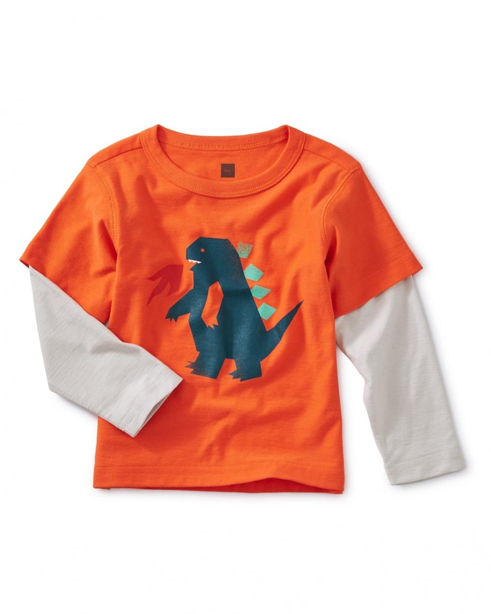 Dinosaur Layered Sleeve Tee