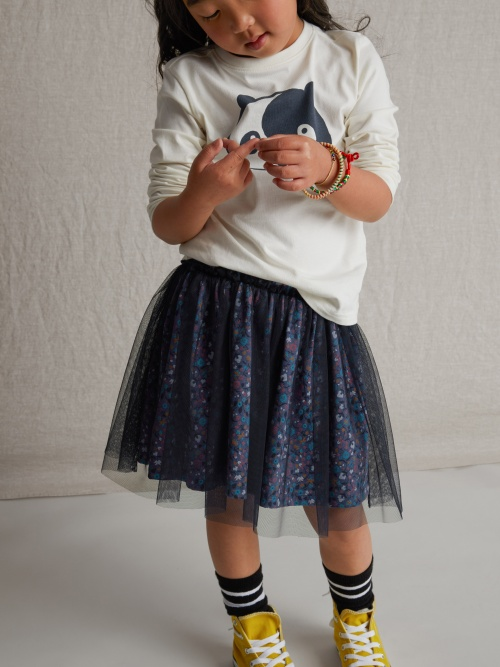 Patterned Tulle Twirl Skirt