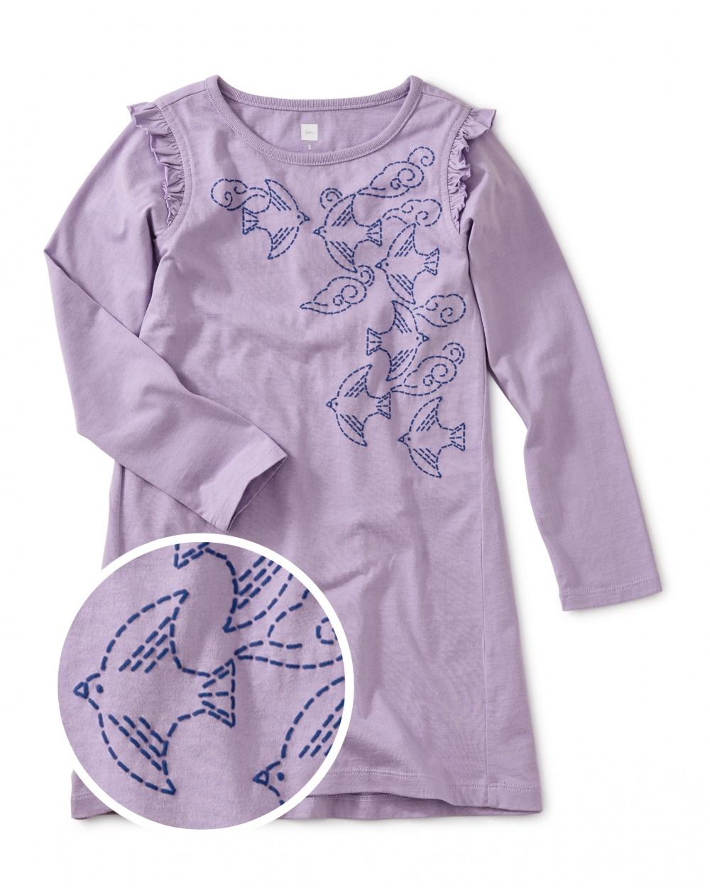 Graceful Ravens Graphic Dress