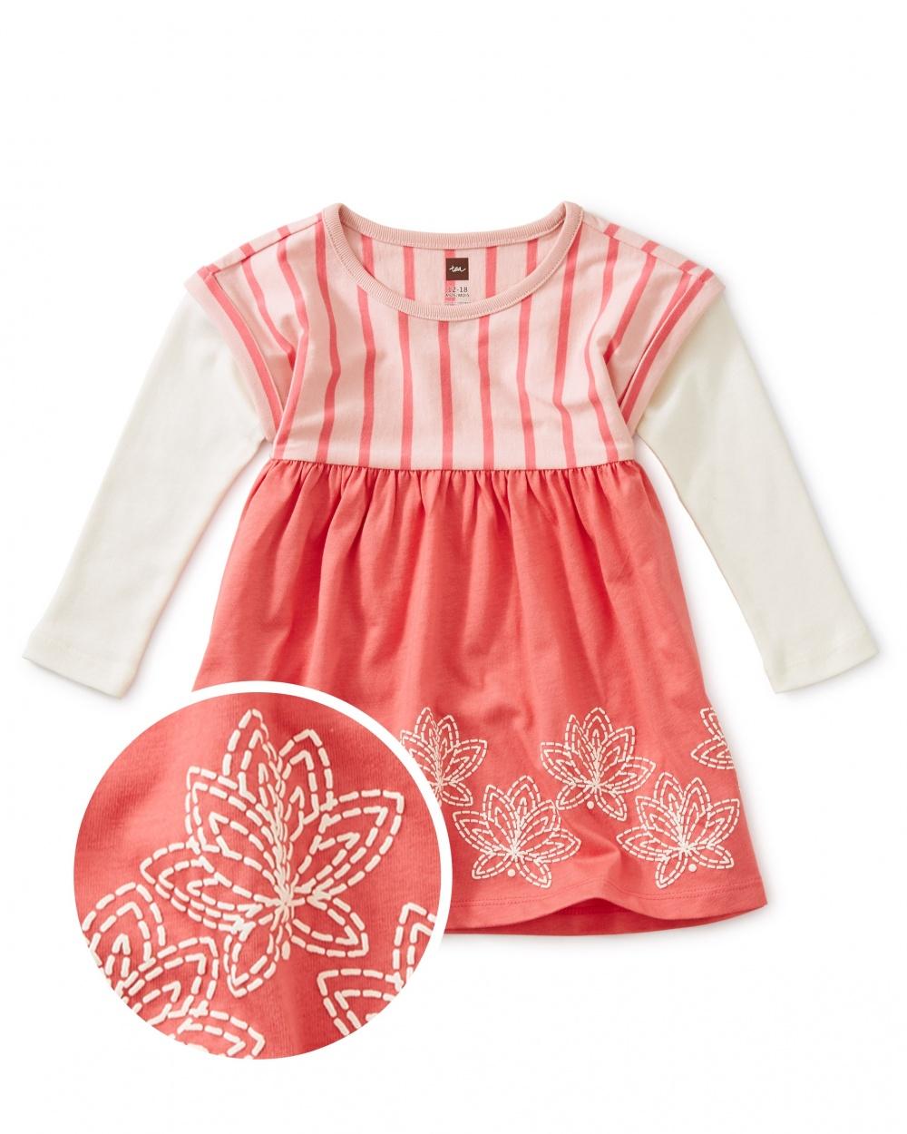 Lotus Layered Sleeve Baby Dress