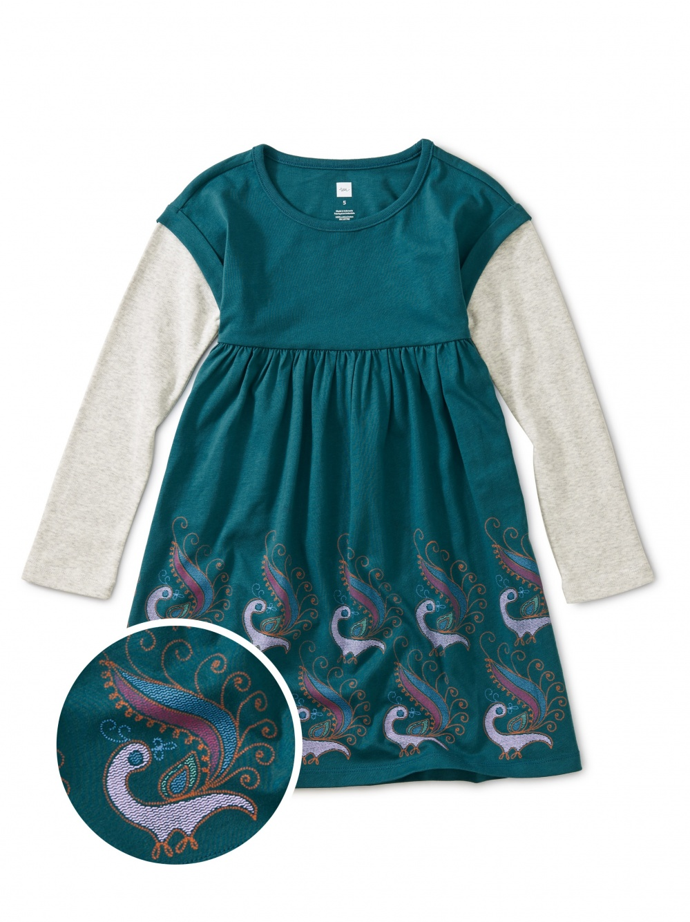 Graphic Layered Sleeve Dress