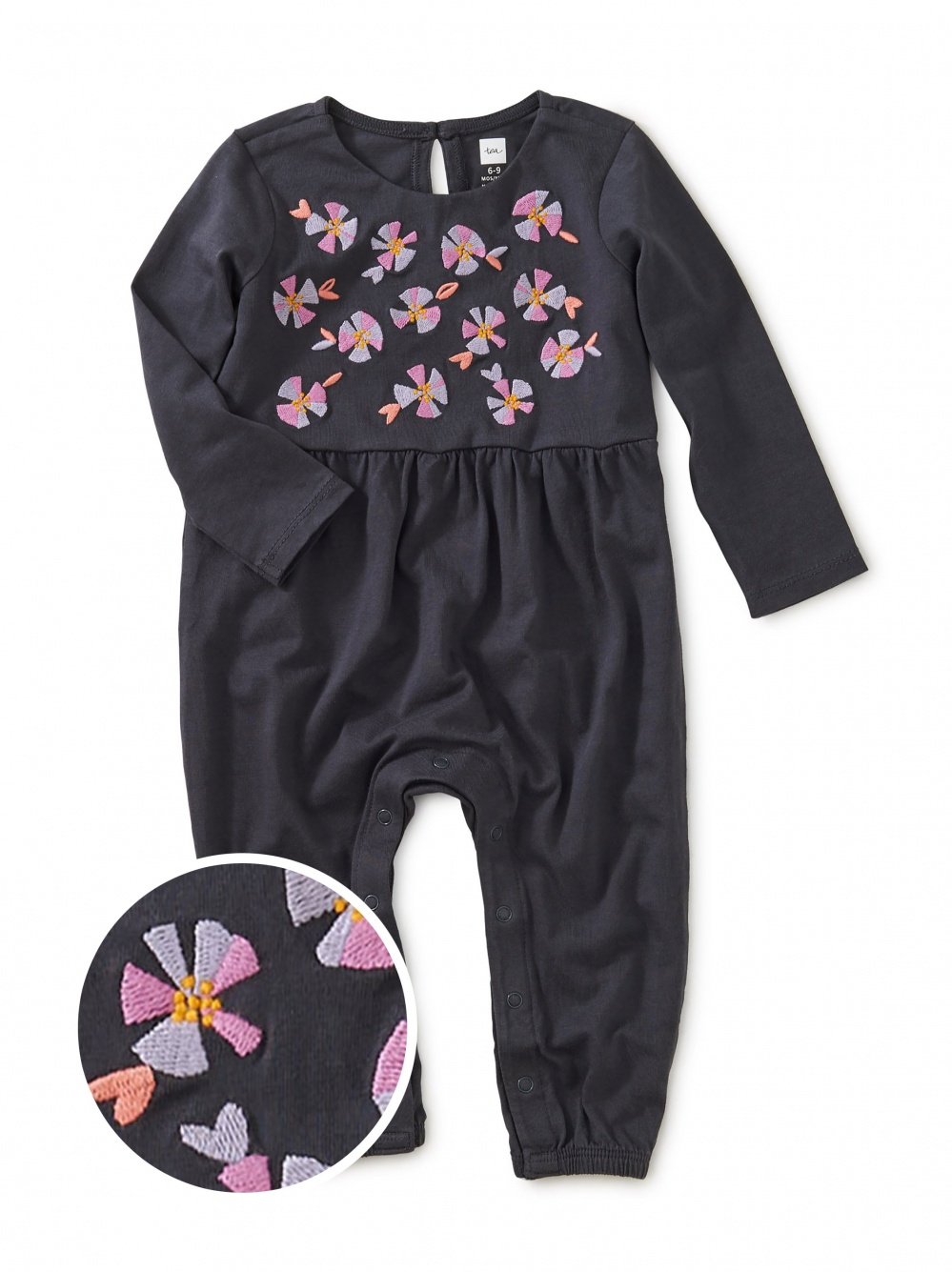 Bright Blooms Embroidered Romper