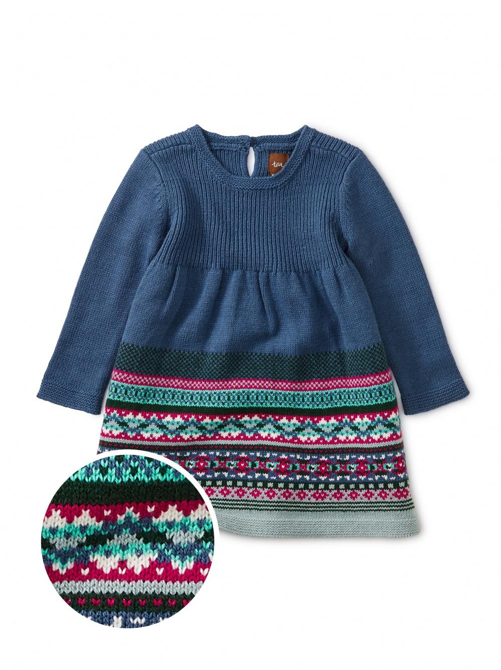 Fairisle Baby Sweater Dress