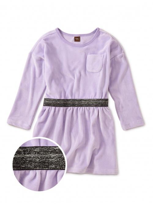 Velour Sparkle Waisted Dress