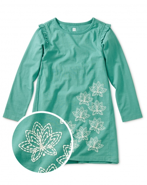 Floating Lotus Graphic Dress