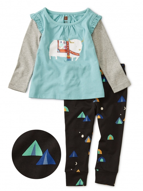 Yak It Up Graphic Baby Outfit