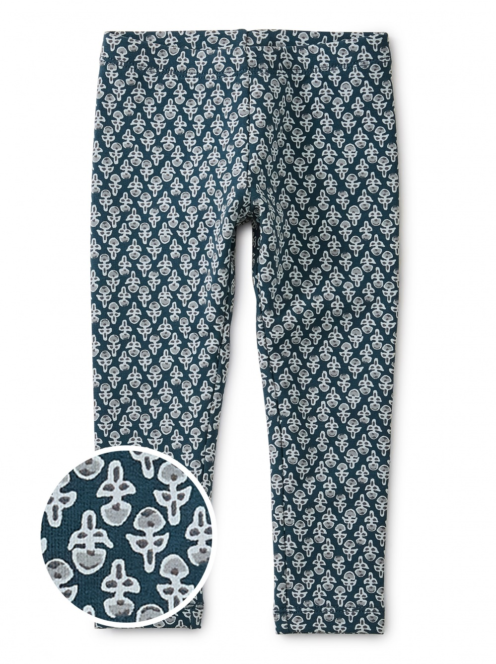 Poppy Blockprint Cozy Baby Leggings