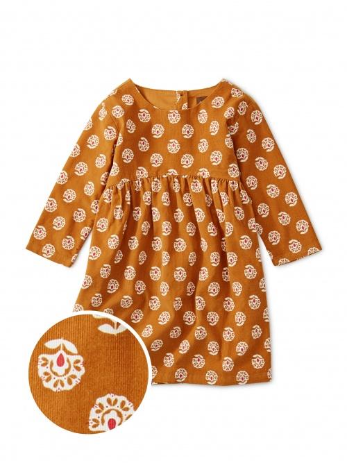 Printed Baby Cord Dress