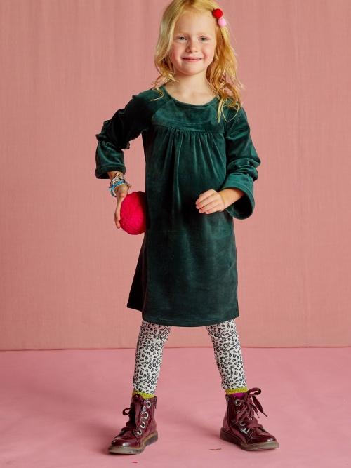 Velour Bell Sleeve Dress