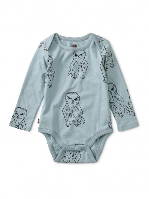 Owl Print Bodysuit