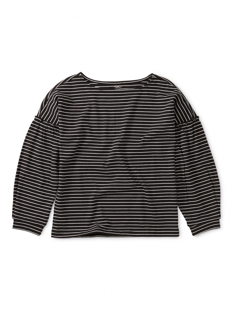 Striped Bishop Sleeve Top