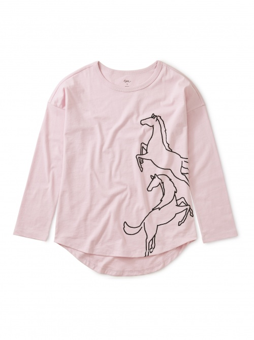 Sparkly Horse Graphic Top