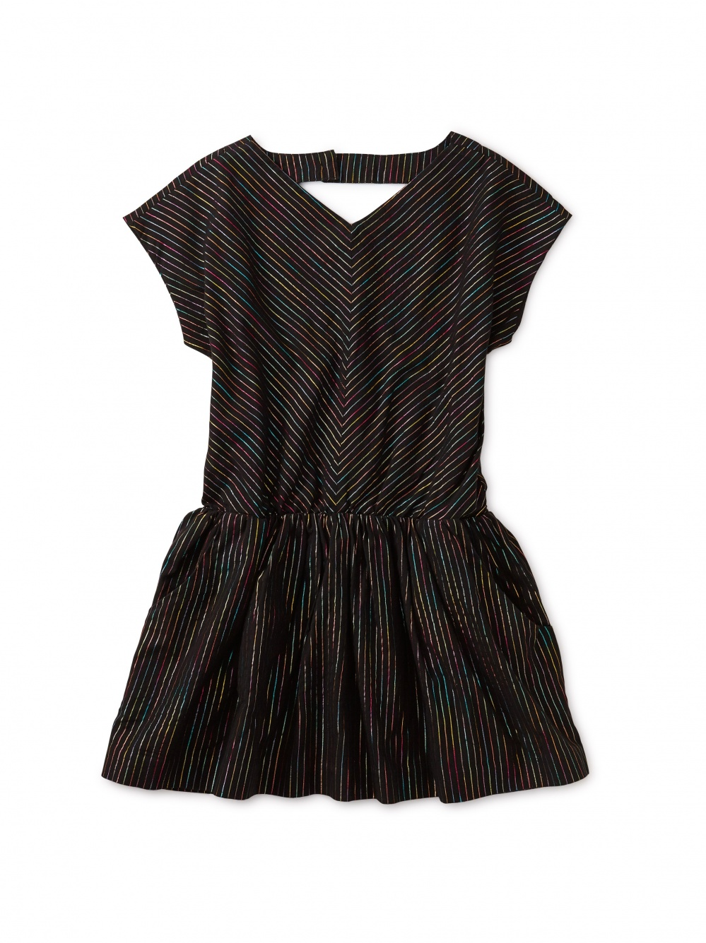Metallic Rainbow Striped Dress