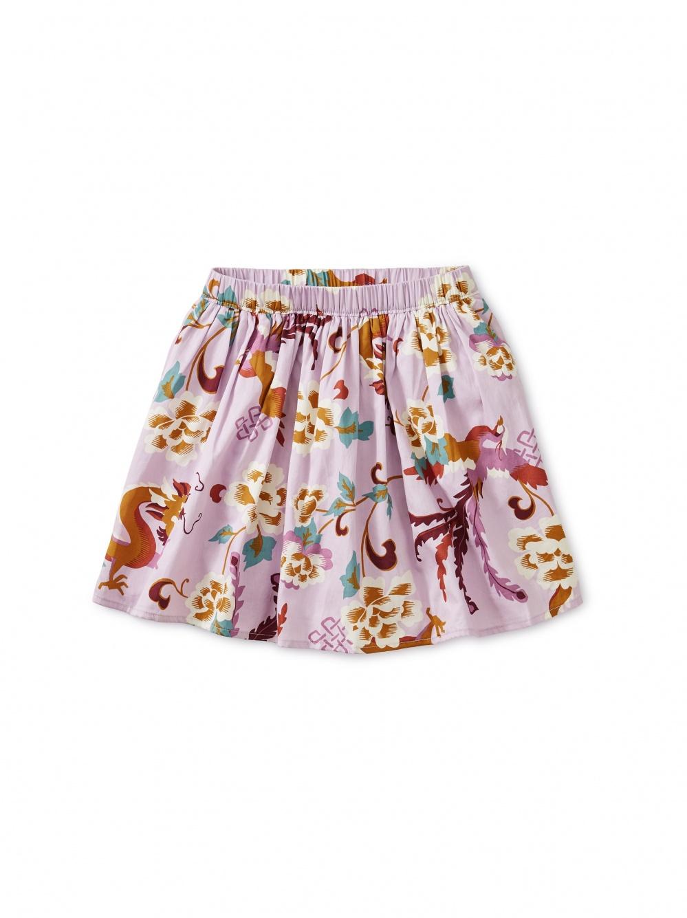 Dragon Floral Twirl Skirt