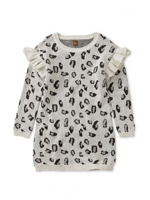 Snow Leopard Sweater Dress