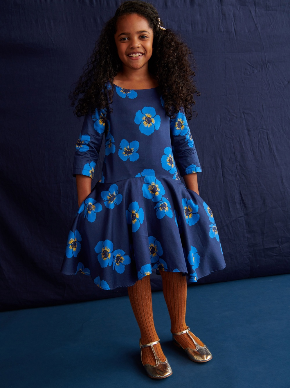 Himalayan Poppy Ruffle Dress