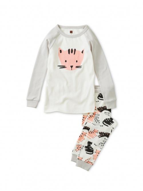 Cat Graphic Pajamas