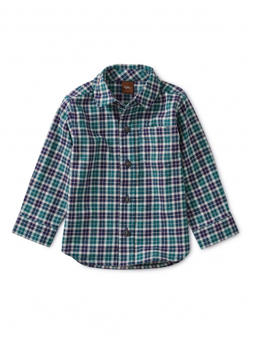 Patterned Button Up Baby Shirt